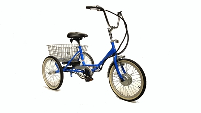 Fold and Go Three Speed Electric Deluxe Folding Trike True Bicycles, Fold and Go, Three Speed, Electric, Deluxe, Folding, Trike, Tricycle, Rectrational